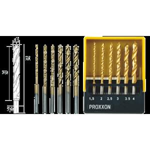 купить Набор спиральных сверл из быстрорежущей стали с направляющим центром PROXXON (код 28876)